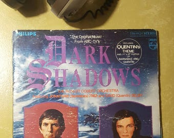 DARK SHADOWS tv soundtrack cast lp Robert Cobert Jonathan Frid David Selby album vintage W/POSTER