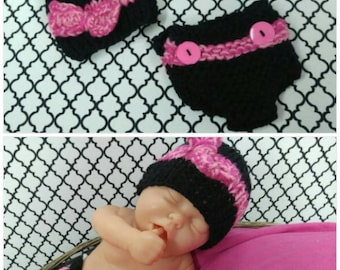 Newborn Hat and Diaper Cover