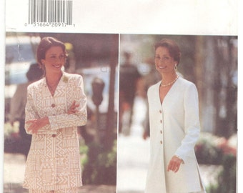 Butterick 3851 Size 18, 20, 22  Women's long Jacket / tunic, flounce skirt and pants suit sewing pattern.  Very Easy.  Mother of the bride