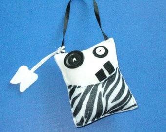 Zebra Monster Tooth Pillow