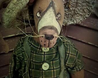 MUSTARD SEED ORIGINALS, Spring, Easter, Carrot, Folk Art, Bunny, Rabbit, Farmer, Eggs, TeamHaHa, Hafair, Doll by Sharon Stevens