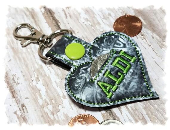 Aldi Quarter Keeper, Aldi Keychain, Aldi Heart, Aldi Key Fob