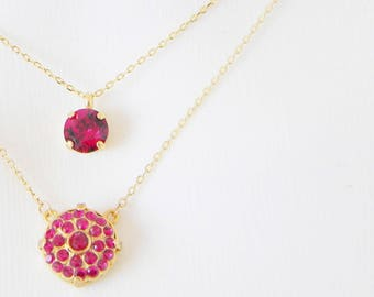 Ruby Layering Necklace