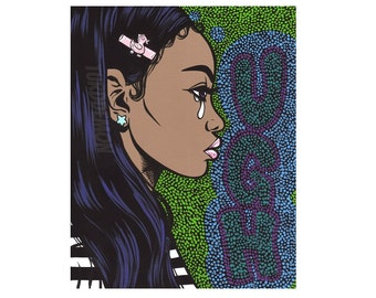 UGH Pop Art Crying Comic Girl Print