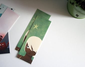 The boy and the stars - illustrated bookmark