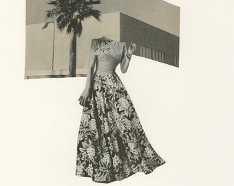 California Dreaming. Original collage by Vivienne Strauss.