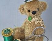 teddy bear pin cushion, pin keep