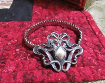 Vintage Art Nouveau Expandable Buckle Bracelet