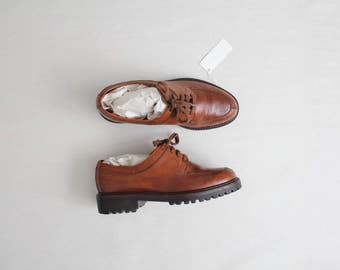 brown leather oxfords | ralph lauren brogues | size  7 7.5 shoes