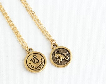 Capricorn Necklace - Personalized Zodiac Necklace - Custom Zodiac Jewelry - Astrology Pendant - Gift For Daughter