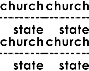 instant download postcard separate church and state