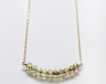 SALE! - terra – minimalist beaded necklace
