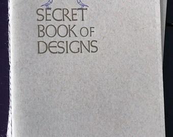 """Secret Book of Designs 6""""x9"""" Handmade Letterpress Notebook"""