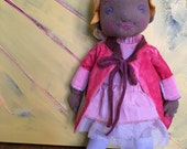 For COPPER_MAUSE, A Handcrafted 14 Inch Fiber Art Doll