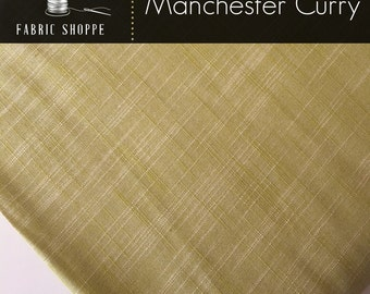 SALE Fabric, Manchester in CURRY, Baby Girls Dress Fabric, Yarn Dyed, Woven fabric, Apparel fabric, Infinity Scarf fabric, Choose your cut