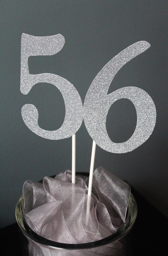 Table numbers wedding table numbers glitter table for Glitter numbers for centerpieces