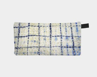 Sashiko 10 Japanese Stitched Cosmetic Makeup Travel Bag Pencil Case