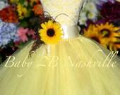 Sunflower Dress Maize Yellow Dress Flower Girl Dress Lace Dress Summer Dress Baby Dress Toddler Dress Girls Dress
