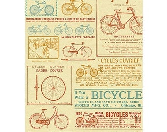 Vintage Bicycles Mini Journal Notebook by Cavallini & Co. PSS 2862