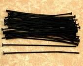 Two-Inch Black Head Pin, 20 Gauge, Matte Black, 40 Pc. MB11
