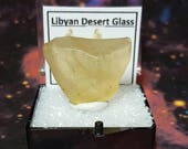 Sale 5.7 Gram LIBYAN DESERT GLASS Natural Gold Tektite Meteorite Impact Glass In Perky Mineral Specimen Box From Egypt