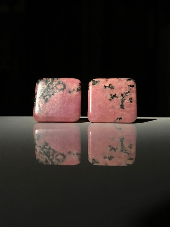 Vintage Rhodonite Cufflinks