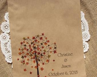 Fall Wedding Favor Bags - Wedding Favor Bags - Rustic Wedding - Favor Bags  -  Fall Favor Bags -  Fall Wedding Bags -  Candy Buffet Bags