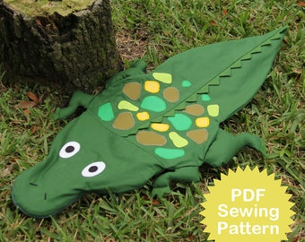 Wally the Alligator Bag Sewing PATTERN
