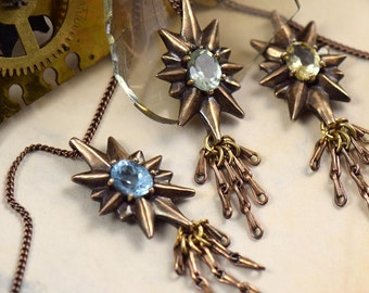 The Guiding Star -- Bronze and Gemstone Pendant