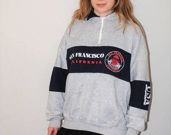 80s vintage San Francisco pull over sweatshirt 1980s fleece medium