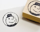 Snowman Rubber Stamp