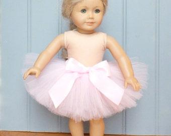 Pink Tutu, Girl Gift, Doll Tutu, Stocking Stuffer, Fits American Girl, Gift for Girl, Tulle Skirt, Tutu Outfit, Birthday Gift, Toddler Gift