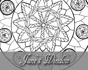 Printable Coloring Book Page for Adults Lady of November