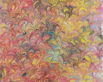 Marbled cotton fabrics - marbled craft supplies - marbled sewing fabrics - Pima Cotton Art Cloth
