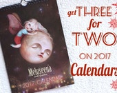 Buy TWO get one FREE calendar| get three calendar wall planners for the price of two, office calendar, coworker calendar | Meluseena