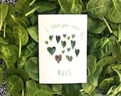 I love you more than kale card cc212