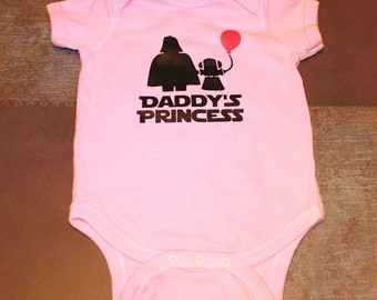 Baby Bodysuit - Daddy's Princess - One Piece Baby Creeper - Pink