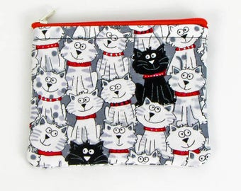 Funny Cats, credit card case, business card holder, cute coin purse, change purse, womens change purse, credit card wallet, kids mini wallet