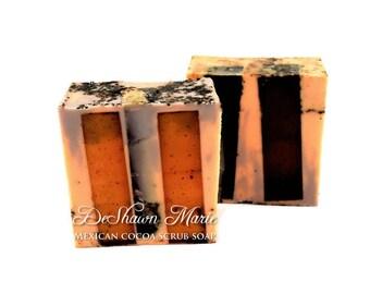 SOAP- Mexican Cocoa Coffee Scrub Soap - Coffee Soap - Chocolate Soap -Vegan Soap - Handmade Soap- Soap Gift - Soap Favors - Valentine's gift