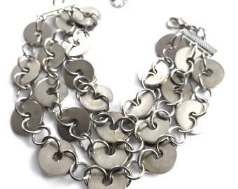 Cuff Bracelet Multi Strand Hardware jewelry Chain Industrial Jewelry Eco Friendly