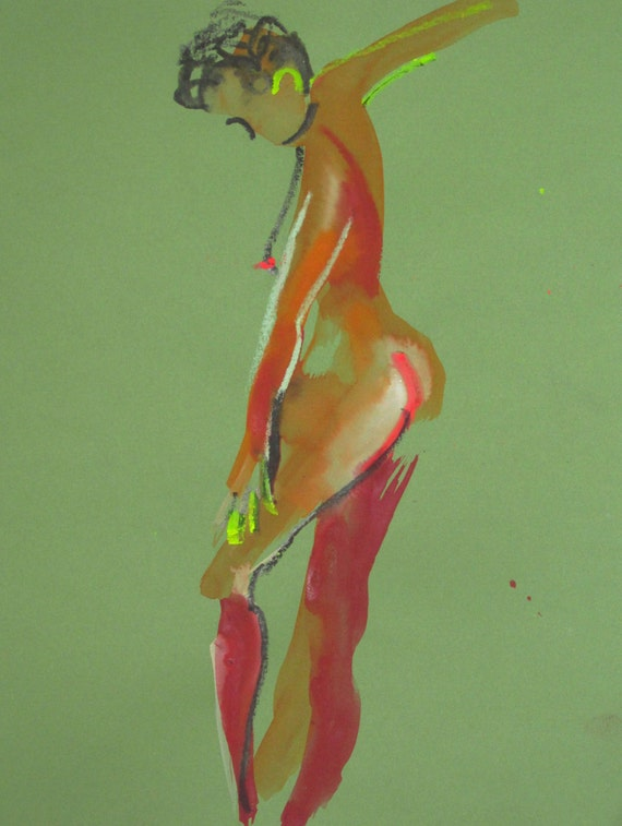 Nude painting#1386  Original painting by Gretchen Kelly