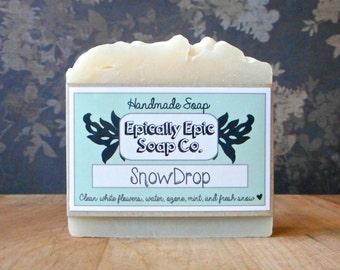 Snowdrop Cold Process Soap - Vegan Handmade Soap