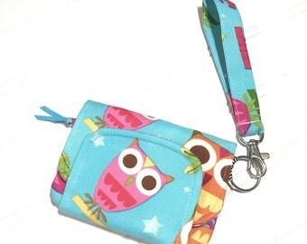 Owls | Wrist wallet | Children's wallet | Keychain wallet | Easter gift | ID holder | Girls wallet | Card wallet | Change purse