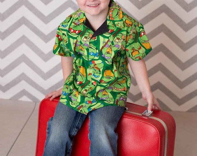Little Boys Shirt - Toddler Boy Clothes - Birthday - Teenage Mutant Ninja Turtles - Boutique Boys - Boys Shirt - sizes 3T to ...