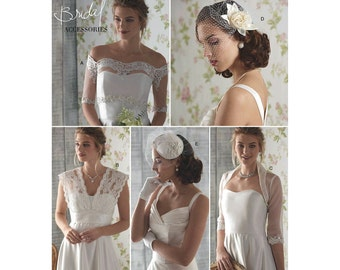 Retro, Formal or Wedding Dress ACCESSORIES,  Simplicity 8364 Pattern, Cover-Ups, Fascinator & Hat Sizes: 6-8-10-12-14 or 14-16-18-20-22
