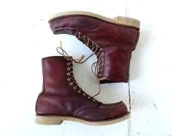 Red Wing Boots | 1970s Boots | Vintage Work Boots | Size 11 1/2