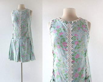 Lilly Pulitzer Dress | Vintage 1960s Dress | 60s Floral Dress | Small S