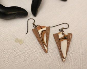 Triangle Dangle Earrings no.