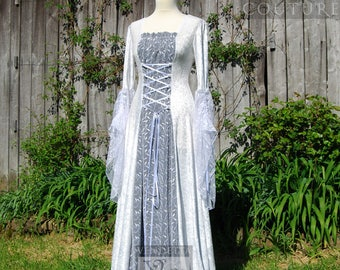Medieval Dress Wedding gown Handfasting Celtic Fairy sizes S to XXL Custom made for you.