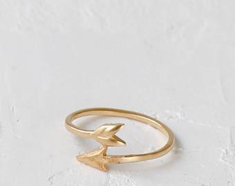 Hunter's Arrow Ring, signature ring, wraparound ring, arrow ring, statement ring